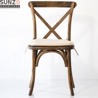 Buy cheap Dining Furniture White Color Cross Back Chair For Party And Event from wholesalers