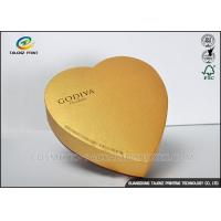 Buy cheap Handmade High Grade Cardboard Chocolate Boxes , Food Gift Boxes Heart Shaped from wholesalers