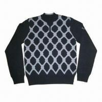 Buy cheap Men's Cardigan, Long Sleeve Zip, Made of 100% Merino Wool from wholesalers