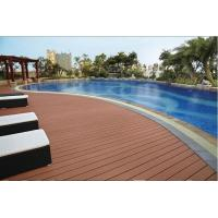 Buy cheap Weather resistant grooved competitive price wood plastic composite decking, WPC decking, w from wholesalers