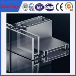 Buy cheap Price aluminum aluminium frame wall glass partition,aluminium frame glass wall from wholesalers