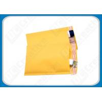 Buy cheap 8.5 × 14.5 Yellow Air Jacket Bubble Mailer Envelopes , Custom Mailing Bubble Envelopes from wholesalers