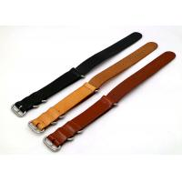 Buy cheap Professional Custom Mens Watches Leather Band , Sport Watch Bands Three Color from wholesalers
