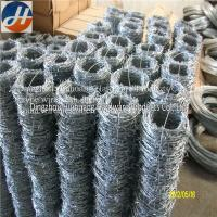 Buy cheap Electro Galvanized/Hot dipped galvanized/PVC coated Barbed wire (manufacture) from wholesalers
