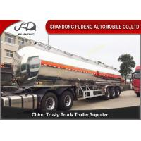 Buy cheap 50 cbm 3 axle tanker fuel oil semi trailer aluminium alloy for sale from wholesalers