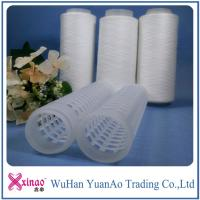 Buy cheap AAA Grade 402 Raw Pattern 100% Spun Polyester Yarn On Plastic Cone from wholesalers