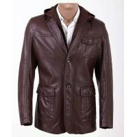Buy cheap M L XL XXL XXXL XLL XLLL Luxury and Casual, Young Mens Fashion Hooded PU Leather Coat product