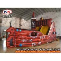Buy cheap Adult Inflatable Water Slides 26ft L Inflatable Pirate Ship Slides Giant Titanic from wholesalers