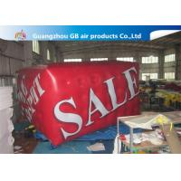 Buy cheap Airtight Large Helium Balloons For Advertising , 0.18mm PVC Red Cuboid Helim Balloon product