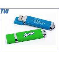 Buy cheap Rubber Finished Plastic Colorful Usb Pendrive Flash Drive with Free Logo Printing from wholesalers