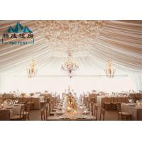 Color Printed Commercial Party Tents Flame Retardant For 2000 Guests