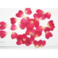 Buy cheap Red Rose Petal Real Dried Flowers Diameter 1CM For Wedding Card Decoration from wholesalers