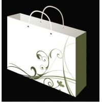 Buy cheap Embossing & Silk Printing White Card Paper Bag from wholesalers