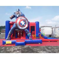 Buy cheap Water - Proof Inflatable Bouncer Slide , Air Sewing Captain Moon Bounce Combo Slide Structure from wholesalers