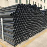 Buy cheap Oem Plastic HDPE Pipe  , Black Hdpe Pipe With Flange Adaptor And Steel Plate from wholesalers