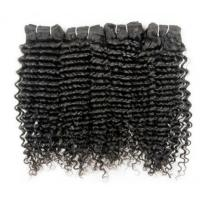 Buy cheap Wholesale Quality Virgin Human Hair Jet Black Jerry Curl Human Hair Weft Weaving from wholesalers