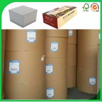 Buy cheap 250gsm grey board,Both side grey chipboard,Slip sheet or rolls from wholesalers