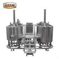 Buy cheap 3mm Steam Heated Pub Brewhouse , 15 BBL Stainless Steel Micro Brewing Equipment product