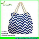 Buy cheap LUDA discount purses latest handbags cute blue chevron wave  canvas shopping bag from wholesalers