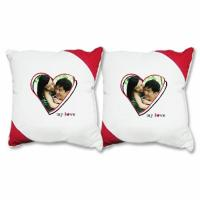 Buy cheap Modern Cute Lover Photo Cotton Decorative Sofa Pillows For Indoor from Wholesalers
