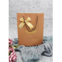 Buy cheap Biodegradable Brown Paper Wine Bottle Bags With Gold Sliver Metallic Logo from wholesalers