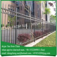 Buy cheap 6ft high Black painted strong school fence villa fencing for Australia from wholesalers