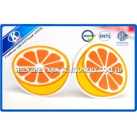 Buy cheap Magic Orange Fruit Shaped Kids Erasers For Kindergarten , 3D Novelty Art Eraser from wholesalers