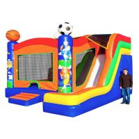 Buy cheap Sport Themed Inflatable Bouncer Combo Jumper With Slide Double Stitching Fireproof from wholesalers