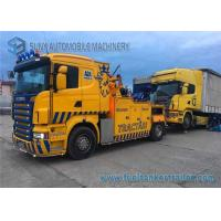 Buy cheap Yellow Scania 16 Ton Wrecker  6 Ton Side Puller Wireless Remote Control Boom from wholesalers
