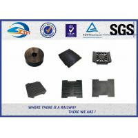 Buy cheap Railway Track Pad Plastic And Rubber Part EVA HDPE Black Surface from wholesalers