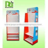 Buy cheap Custom Cardboard Pallet Display With Hooks For Mobile Accessories / Stationeries from wholesalers