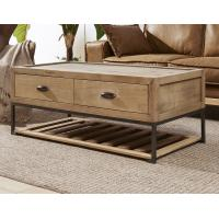 Buy cheap Pine Wood Trunk Living Room Table , Vintage Steamer Trunk Coffee Table With Drawers from wholesalers