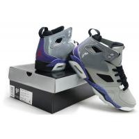 China Nike Air Jordan 6 Retro Men's basketball shoes grey/purple 027 on sale