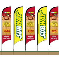 Buy cheap Subway Feather Banner Swooper FLAG KIT- INCLUDES POLE KIT & SPIKE from wholesalers
