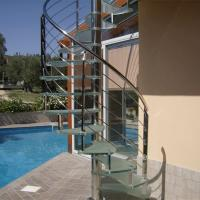 Buy cheap Indoor / Outdoor Metal Spiral Stairs / Cast Iron Used Spiral Staircase from wholesalers