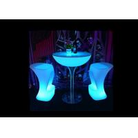 Buy cheap Night Club Led Glass Coffee Table , Glow In The Dark Furniture 7 - 8 Hours Recharged product