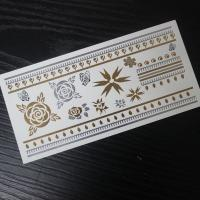 Buy cheap tatoo temporary stickers arabic golds from wholesalers