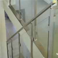 Buy cheap aluminum Glass railing baluster stainless handrail bracket glass railing from wholesalers