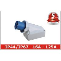 Buy cheap 125 Ampere IP67 63A Industrial Plugs And Sockets 230V 380V , Surface Mounted from wholesalers
