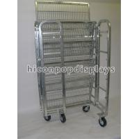 Buy cheap 4 Casters Metal Rolling Display Shelves For Grocery Store Porducts Promotion from wholesalers