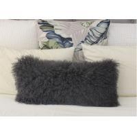 Genuine Tibetan sheepskin Body Pillow MONGOLIAN FUR LUMBAR CUSHION GREY Color 30x60cm