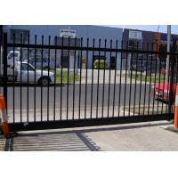 Buy cheap Gray Black Steel Garden Fence , Tubular Picket Fence With Flat Top High Strength from wholesalers