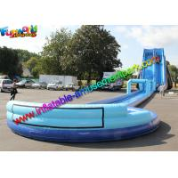 Buy cheap Exciting big water pool inflatable water slide with swimming pool , bounce house jumpers from wholesalers