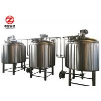 Buy cheap 7 Bbl Commercial Mini Micro Beer Brewing Equipment 2 / 3 / 4 Vessels CIP Cleaning from wholesalers
