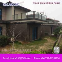 Fiber cement exterior house cladding board for exterior for Wood grain siding panels