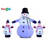 Buy cheap LED Lights Christmas Inflatable Snowman For Yard Decoration from wholesalers