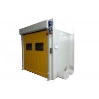 Buy cheap Powder Coated Steel Automatic PVC Quick Roll Up Door Air Shower Tunnel product
