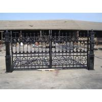 Buy cheap decorative casting entrance iron gate from wholesalers