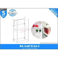 China 4 Post Metal Storage Furniture Shelves / Warehouse Store Display Stands Customized on sale