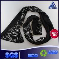 Buy cheap Black Seamless Skull Winter Knitted Scarf For Men Embroidery Logo Available from wholesalers